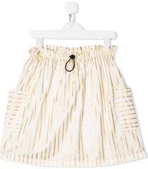 andorine striped pull-on skirt - white