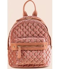 women's chelsea studded mini backpack in mauve by francesca's - size: one size