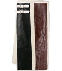 jil sander side buckle asymmetric skirt - neutrals