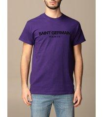 backsideclub t-shirt germain backsideclub t-shirt in cotton with print