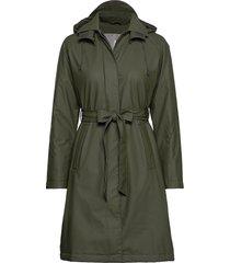 w trench coat regenkleding groen rains