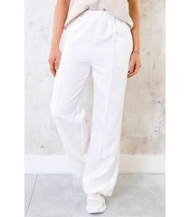 pantalon met elastiek offwhite