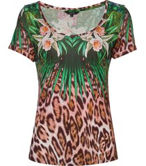 ts jungle t-shirts & tops short-sleeved multi/mönstrad desigual