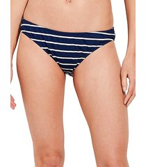 break stripe bikini bottoms