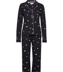 pyjama long pyjamas svart pj salvage