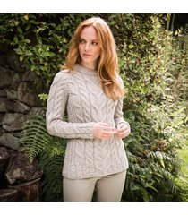 the ardara cable sweater beige l
