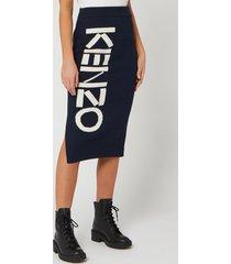 kenzo women's kenzo sport tube skirt - midnight blue - l