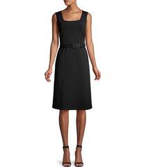 lafayette 148 new york women's monica belted dress - black - size 12