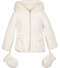 lapin house faux fur hooded jacket - neutrals