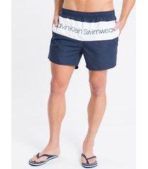 shorts dágua regular liso micro logo - azul marinho - p