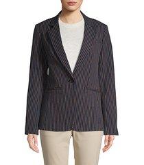 pinstripe stretch blazer