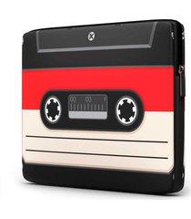 capa para notebook fita k7 15.6 e 17 polegadas com bolso - kanui