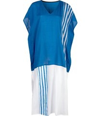 lemlem eshe classic kaftan dress - blue
