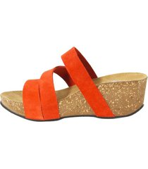 sandalia 3 fajas rojo mailea