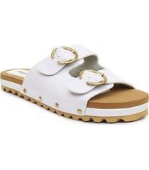 sandalia casual tipo confort para dama color 752helenablanco