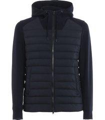 herno blue sweatshirt and nylon sports jacket