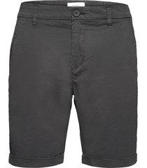 chuck regular chino poplin shorts - shorts chinos shorts svart knowledge cotton apparel
