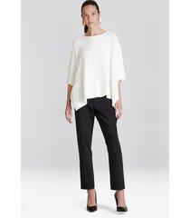 natori cotton modal knit poncho sweater, women's, size s/m