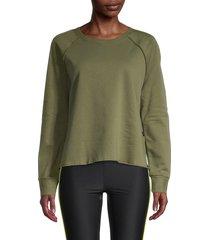 terez women's sport fleece sweatshirt - olive - size m