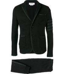 thom browne 4-bar loopback jersey suit - black
