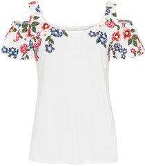 maglia stampata con cut-out (bianco) - bodyflirt