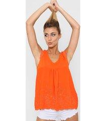 blusa naranja nano luz