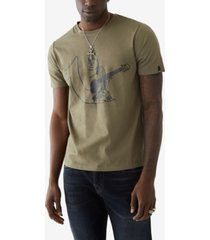 men's half logos short sleeve crewneck tee
