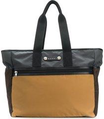 marni hackney colour-block tote bag - blue