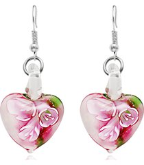 orecchini gioielli etnici luminosi della boemia orecchini a forma di cuore orecchini pendenti per le donne