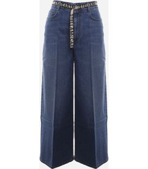 stella mccartney five-pocket bootcut jeans with belt