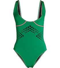 maui perforated one-piece swimsuit