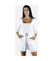 roupas femininas zu loja macacão paz branco
