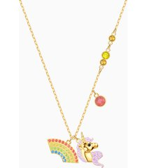 collana out of this world unicorn, multicolore, placcato oro