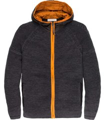 hooded jacket cotton mouline slub tap shoe