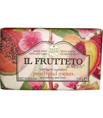 il frutteto pêssego com melão nesti dante - sabonete frutal em barra 250g