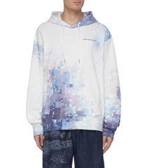 digital weave print hoodie