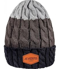 gorro de lana black gray sp nerfis