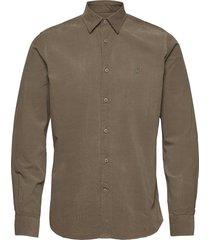 cedrik button under shirt overhemd casual groen morris