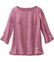 blouseshirt van zuivere bio-zijde, roze 44
