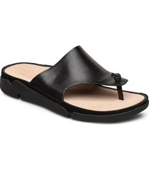 tri toe post shoes summer shoes flat sandals svart clarks