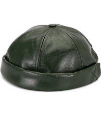 junya watanabe man docker leather hat - green