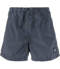 stone island logo swim shorts - grey