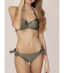 bikini admas 2-delige set heldere kaki push-up bikiniset adma's