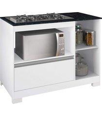 balcão cooktop branco new/gran notável móveis