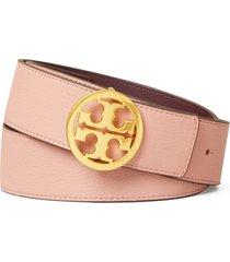 women's tory burch reversible logo belt, size x-small - pink/imperial garnet/gold