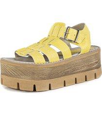 sandalia amarilla euro confort