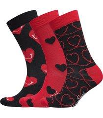 i love you gift box underwear socks regular socks svart happy socks