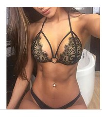 micro swimsuits halter mini bra lace two piece brazilian bikini tanga set