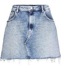 skirt rose label pack kort kjol blå replay