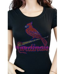 st. louis cardinals jersey rhinestone bling t-shirt